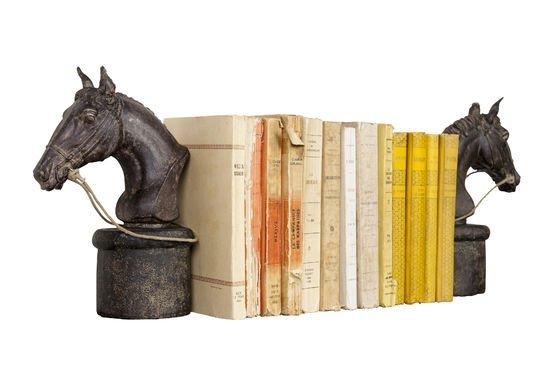 Ein Paar Pferde-Bücherstützen ohne jede Grenze