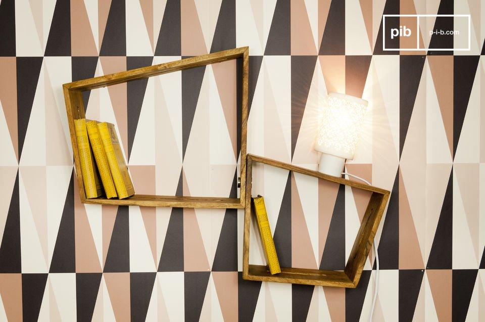 Kombinieren Sie zwei oder drei dieser Wandfächer zu einer originellen Wandbibliothek oder verwenden