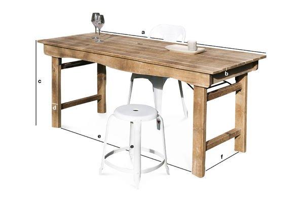 Produktdimensionen Esstisch aus Holz  Elise