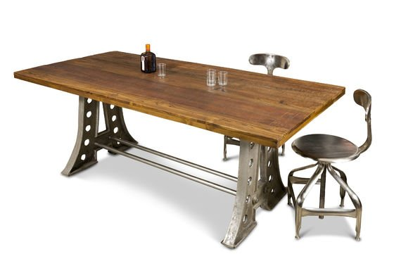 esstisch normandie tisch von 210 zentimetern l nge aus stahl und. Black Bedroom Furniture Sets. Home Design Ideas