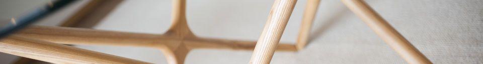 Materialbeschreibung Estrella Esstisch aus Glas