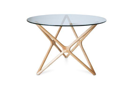 estrella esstisch aus glas ungef rbte sternf rmige pib. Black Bedroom Furniture Sets. Home Design Ideas