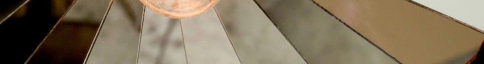 Materialbeschreibung Facettierte Hängeleuchte