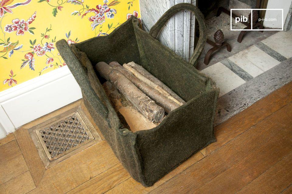 Dieser Korb für Holzscheite