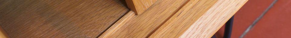 Materialbeschreibung Fiska Sideboard aus heller Eiche