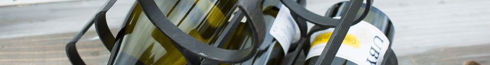 Materialbeschreibung Flaschenbehälter aus Metal