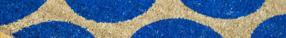 Materialbeschreibung Fußmatte Bubble Blau