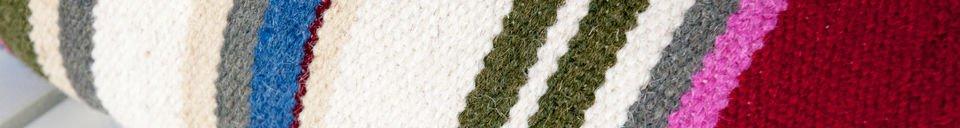 Materialbeschreibung Gestreiftes Kissen Stitch