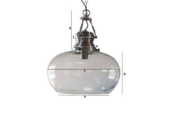 Produktdimensionen Glas Hängeleuchte Hoonui