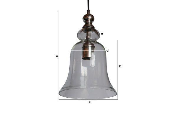 Produktdimensionen Glas Hängeleuchte Sweet Bell