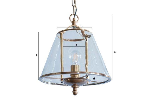 Produktdimensionen Glass Hängeleuchte Lacanau