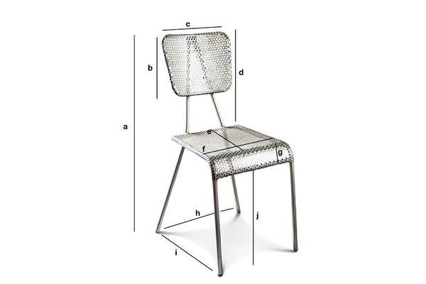 Produktdimensionen Grauer Stuhl Métalo