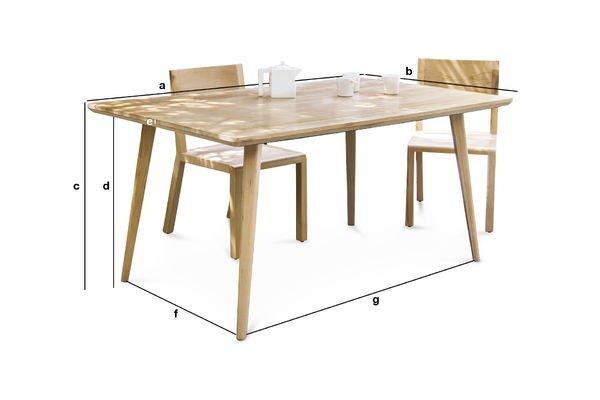 Produktdimensionen Grosser Tisch Möka