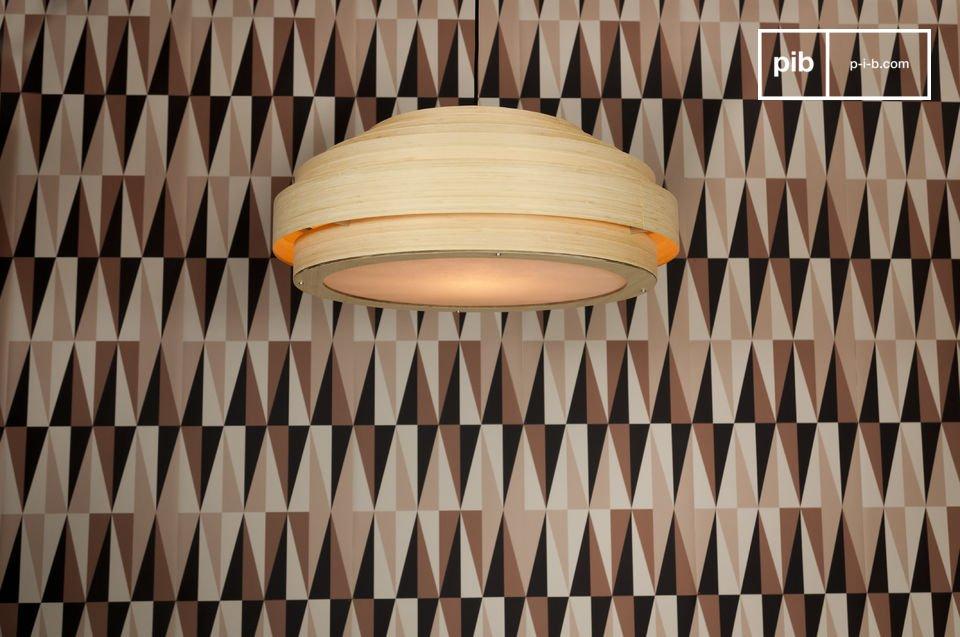 Große Deckenleuchte Bamboo