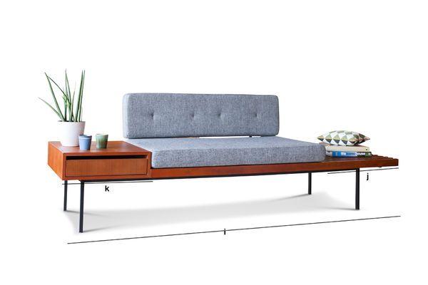 Produktdimensionen Größe Sitzbank mit Schublade Inez