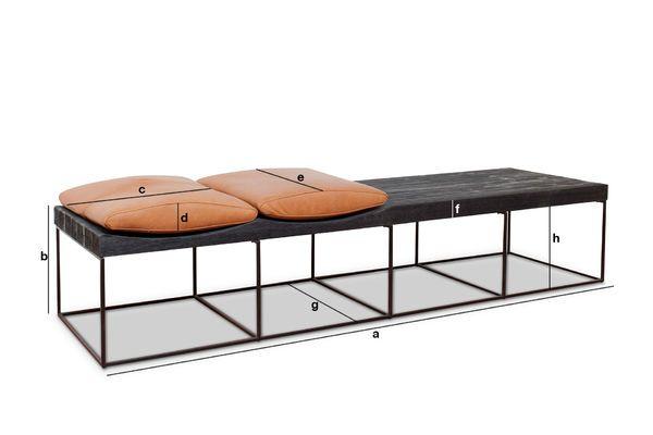 Produktdimensionen Größe skandinavische Sitzbank Klitten