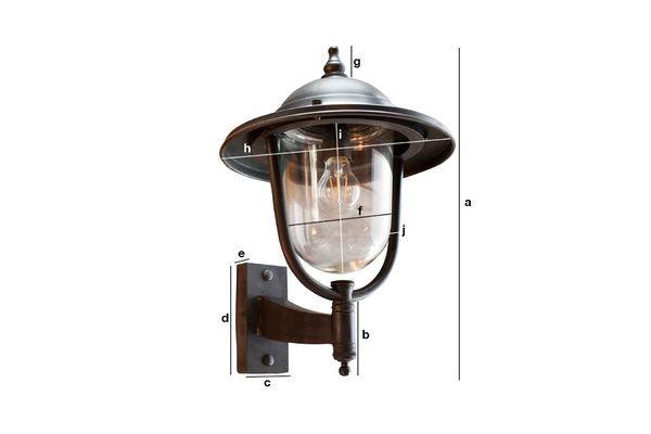 Produktdimensionen Größe Wandlampe für draußen Lizurey