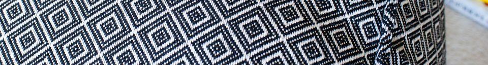 Materialbeschreibung Großer schwarz-weißer Puff Cabourg