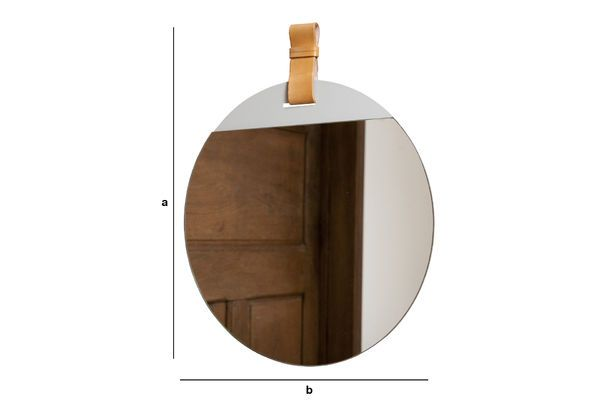 Produktdimensionen Großer Spiegel mit Gurt für den Eingangsbereich