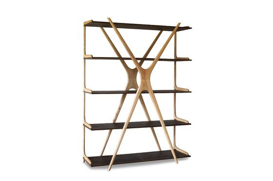 Großes Bücherregal aus Holz Waverly ohne jede Grenze