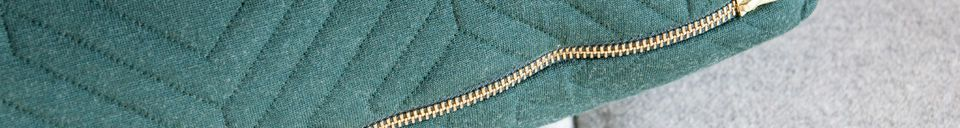Materialbeschreibung Großes gestepptes Kissen dunkelgrün
