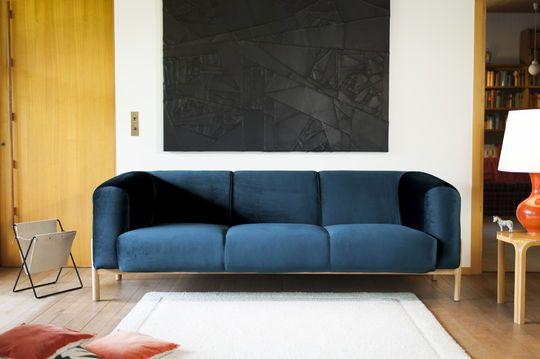 Großes Sofa aus Samt Viela
