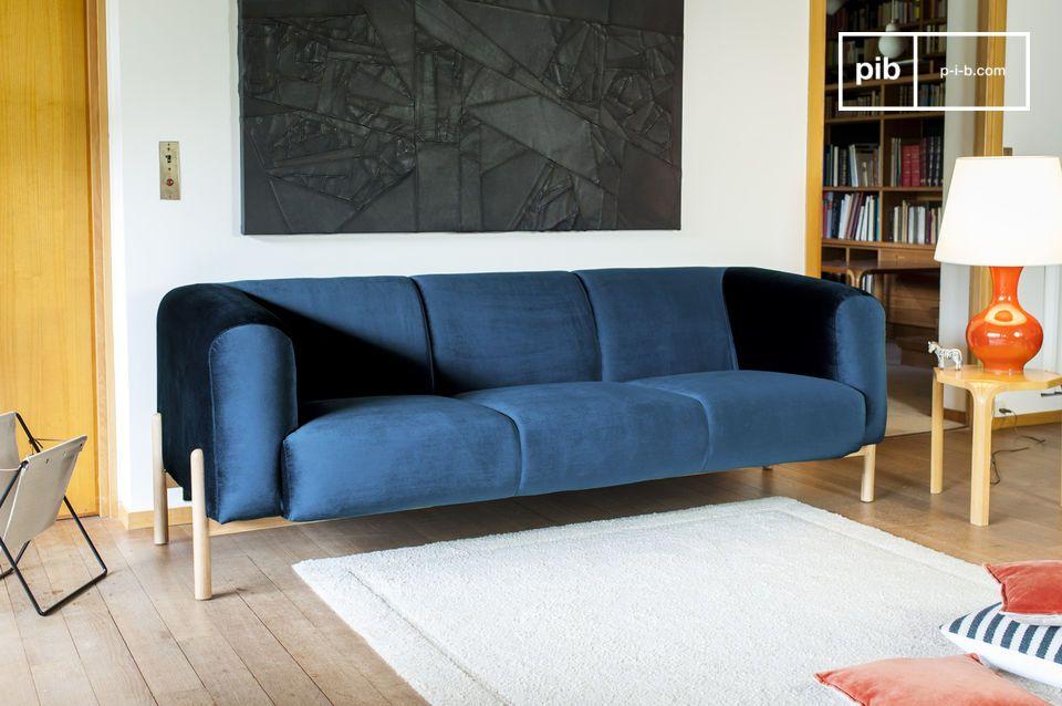 Wenn Sie ein Fan der Dekoration von den 60ern bis zu den 80ern sind dann verkörpert dieses Sofa