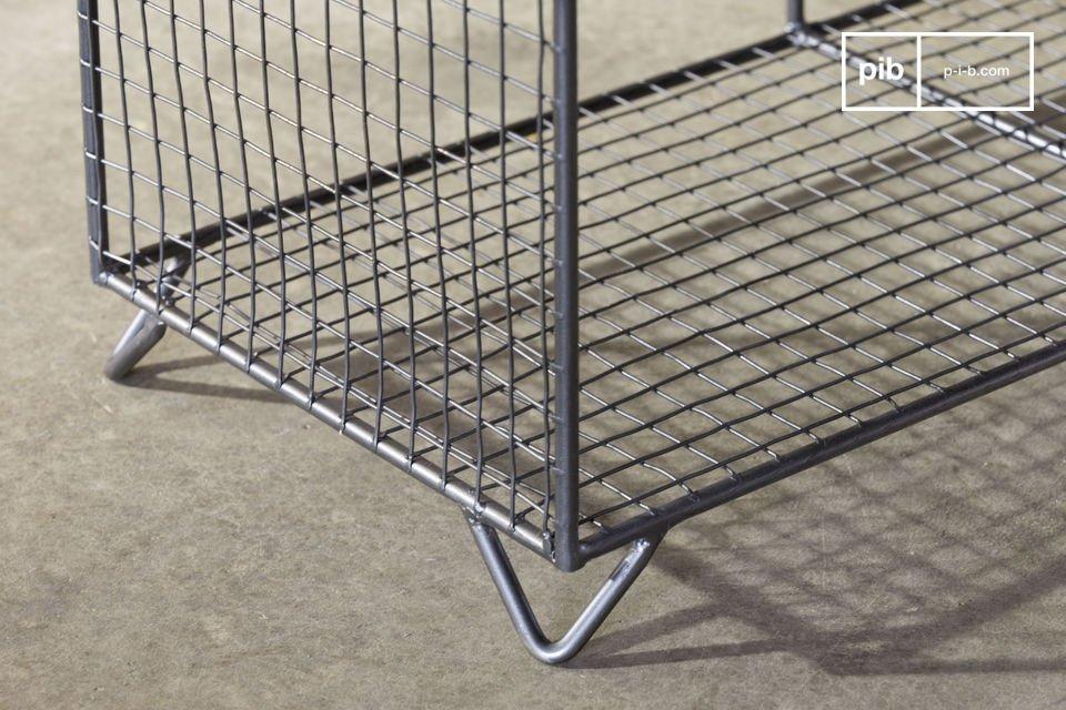 Sein schlichtes Konzept aus Gitter bringt einen originellen Flair in Ihr Interieur