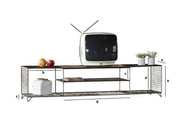 Produktdimensionen Großes TV-Möbel Ontario