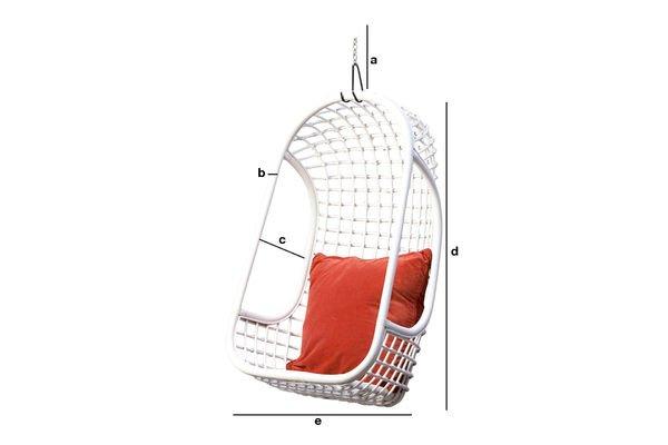 Produktdimensionen Hänge-Sessel Valkönen