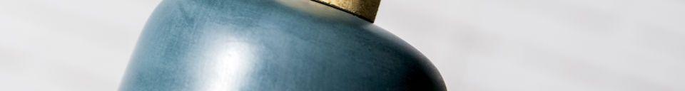 Materialbeschreibung Hängeleuchte blue Terry