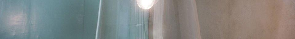 Materialbeschreibung Hängeleuchte Glasglocke