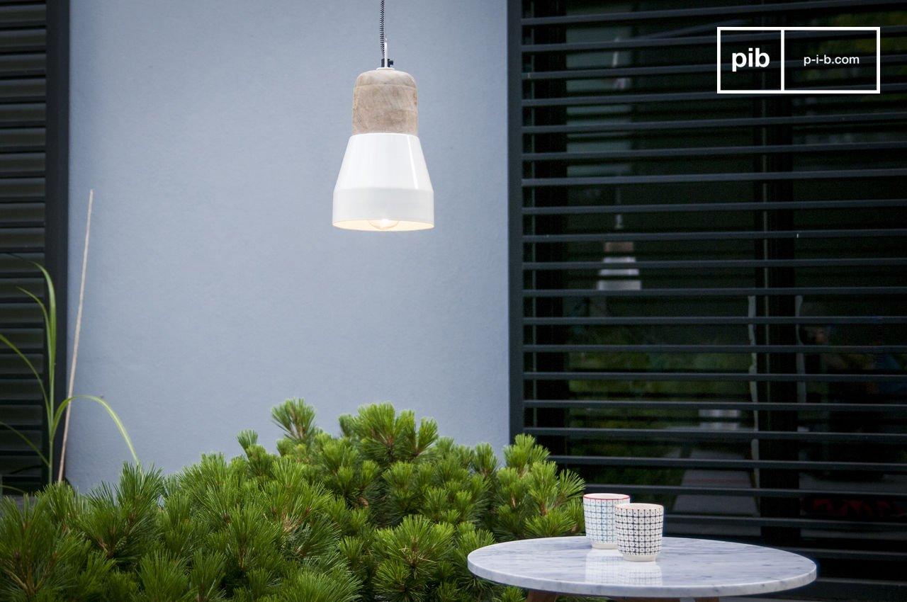Porzellan-Hängeleuchte NUD - Porzellanfassung und 3 Meter | pib