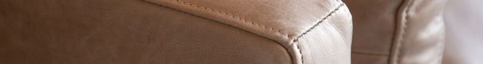 Materialbeschreibung Heidsieck 2-Sitzer Zimt Sofa