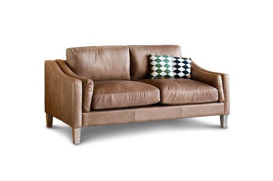 Heidsieck 2-Sitzer Zimt Sofa ohne jede Grenze