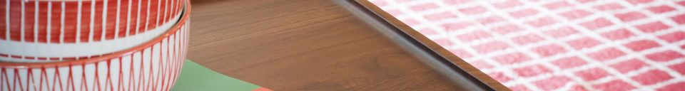 Materialbeschreibung Hemët Couchtisch aus Walsnussholz