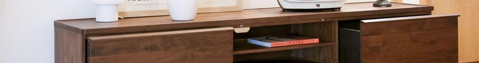 Materialbeschreibung Hemët TV-Möbel aus Walnussholz