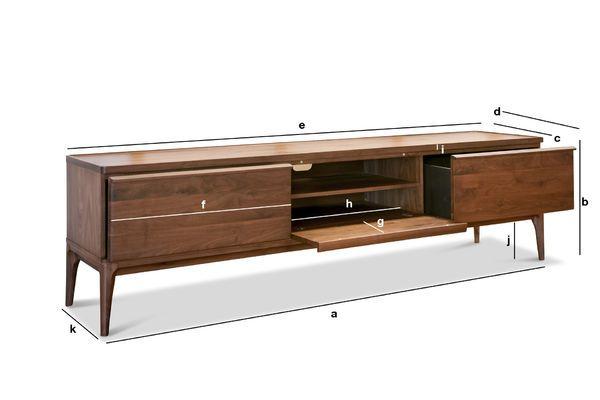 Tv Meubel Scandinavisch : Möbel idimex tv lowboard nantes tv rack hifi möbe fächer