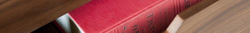 Materialbeschreibung Hinda Sideboard aus Walnussholz