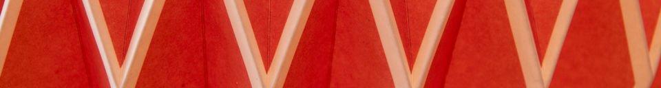 Materialbeschreibung Hippy Lampe Rot