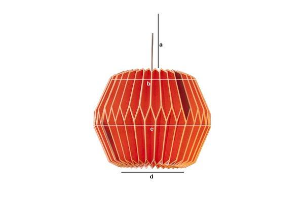 Produktdimensionen Hippy Lampe Rot