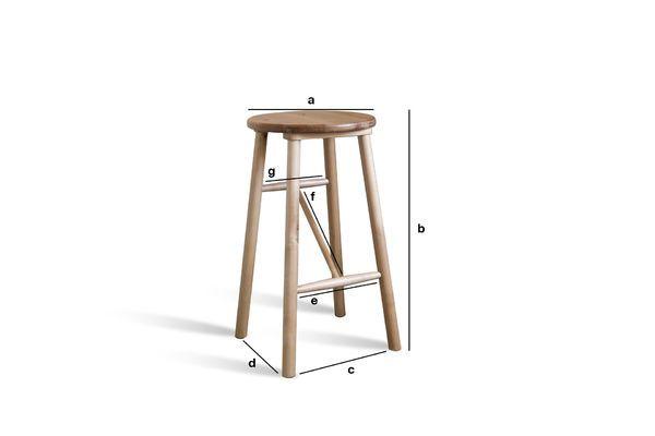 Produktdimensionen Hocker aus Holz Niels