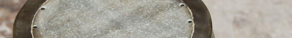 Materialbeschreibung Hocker aus Metall Tubisteel
