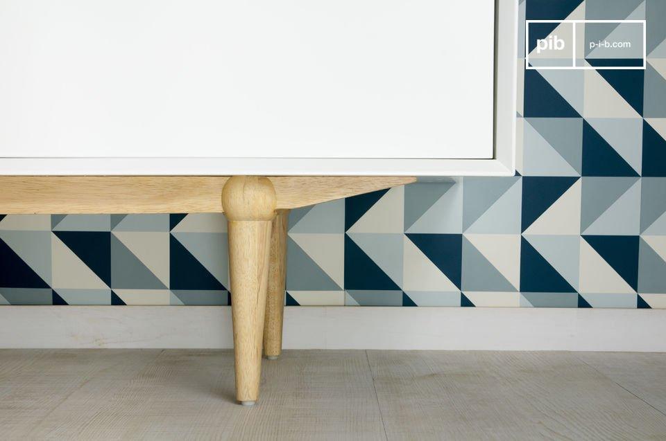 Dieses  Möbel im skandinavischen Design  kombiniert praktisches modernes Design und Eleganz einer