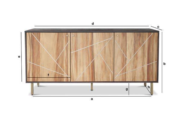 Produktdimensionen Holz Sideboard Linéa