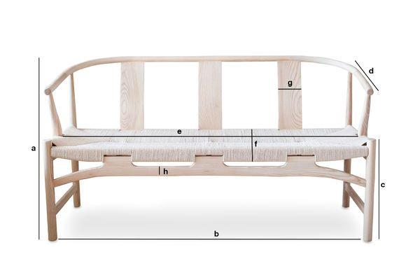 Produktdimensionen Holzbank Mäntta
