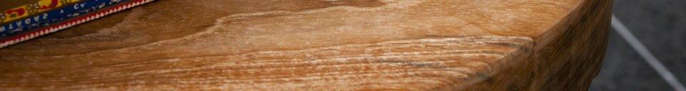 Materialbeschreibung Holzhocker Maverick