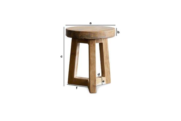 Produktdimensionen Holzhocker Maverick
