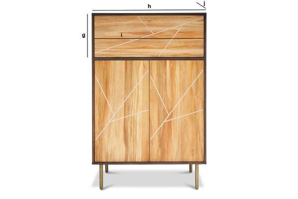 Produktdimensionen Holzschrank Linéa