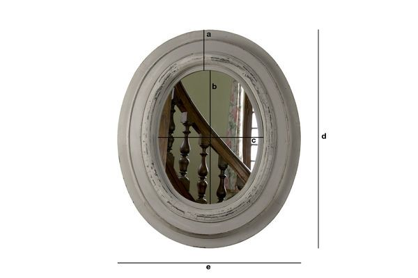 Produktdimensionen Holzspiegel Napoléon
